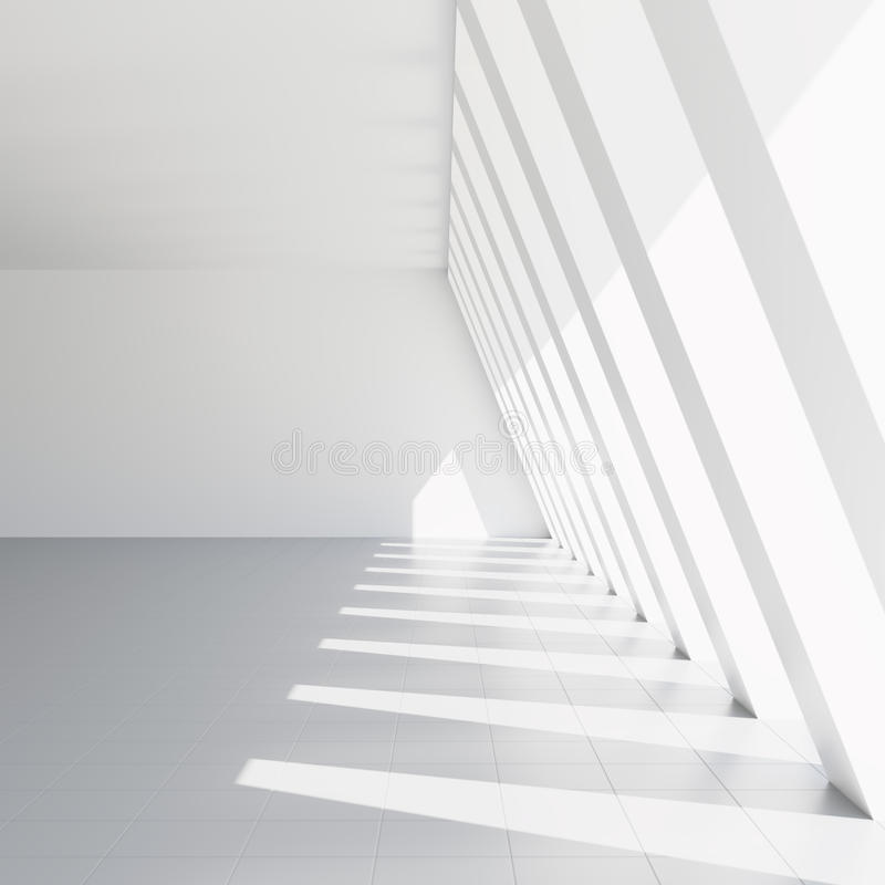 Hall blanc vide illustration libre de droits