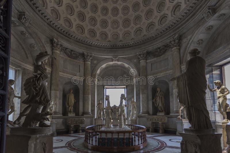 Hall of the Chariot. & x28;Salla della Biga& x29;, Vatican Museum, Vatican City stock photography