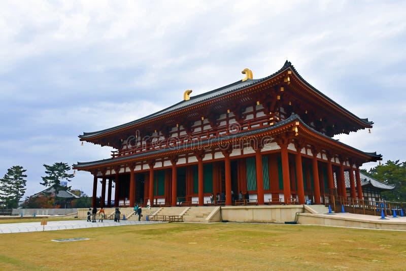 Hall Chu-Kondo principal central de Kofuku-ji, Nara foto de archivo