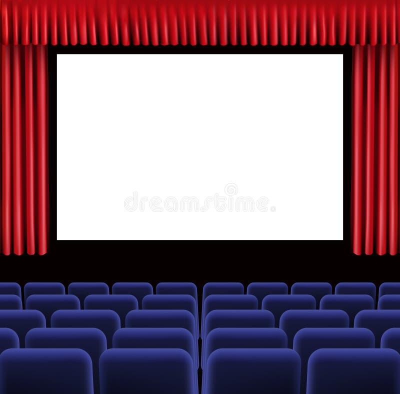 Download Hall of cinema stock vector. Image of filmmaking, blank - 15512568