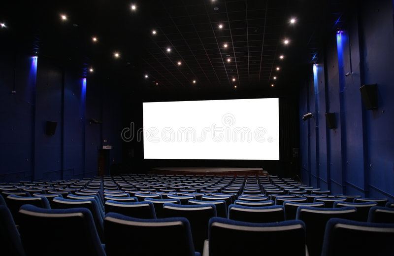 Hall of cinema stock photos