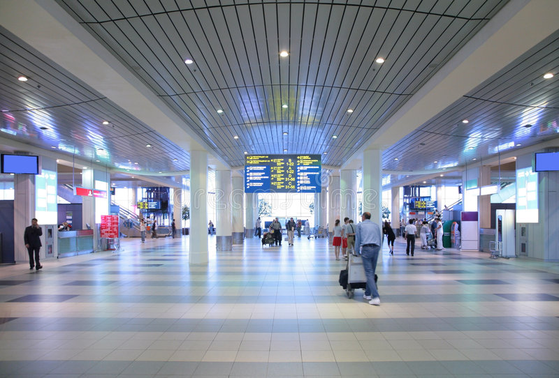 Hall d'aéroport photographie stock libre de droits
