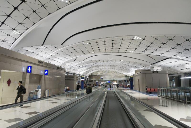 Hall d'aéroport international de Hong Kong photographie stock