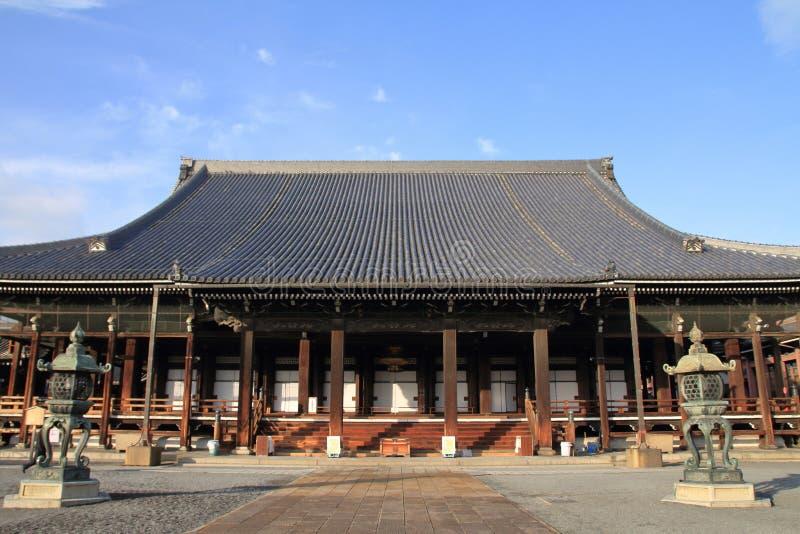 Hall d'Amida de temple de Nishi Hongan photo stock