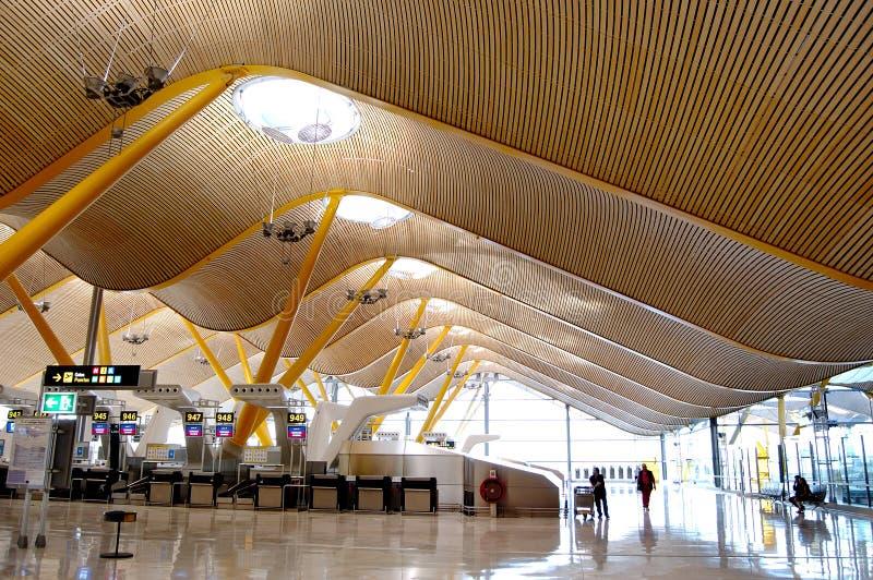 Hall d'enregistrement d'aéroport images stock