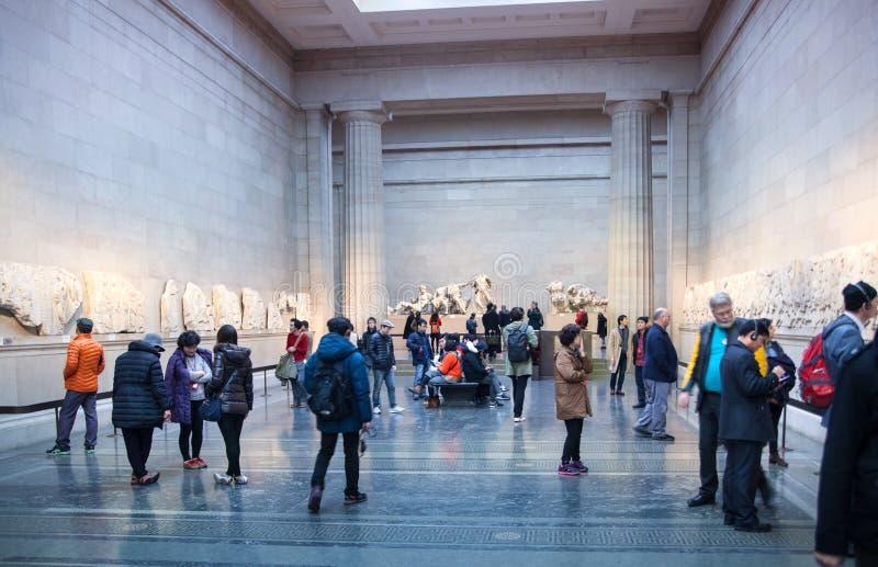 Hall d'exposition de musée britannique Collection du grec ancien de Panthéon photo libre de droits