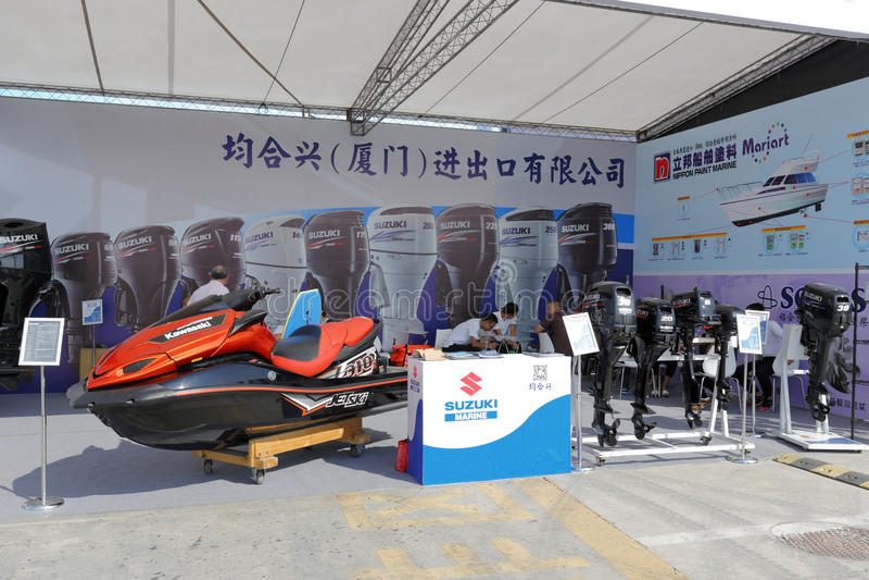 Hall d'exposition de tente d'accessoires de bateau images stock