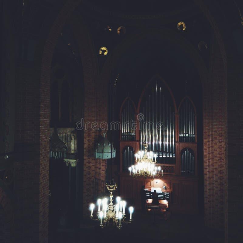 Hall d'organe photo stock