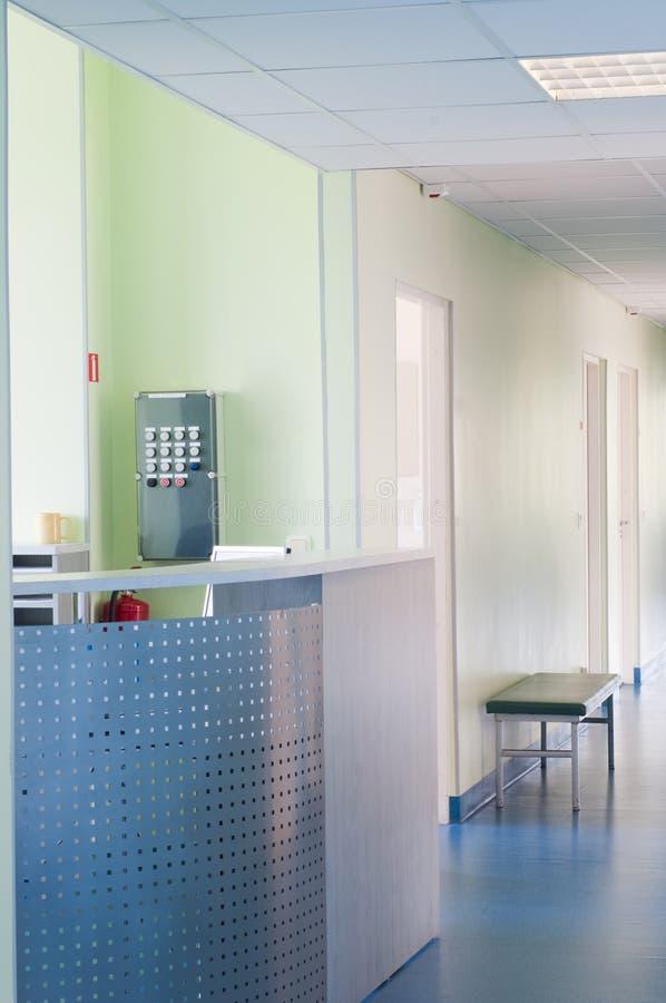 Hall dans l'hôpital photographie stock