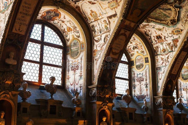 Hall dans le musée de résidence dans la ville de Munich photos stock
