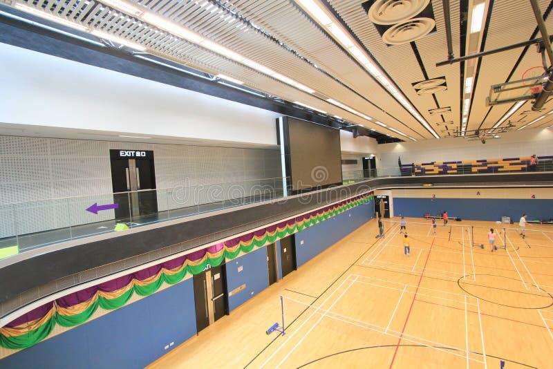 Hall de badminton de Hong Kong en Hang Hau Sports Centre photos stock