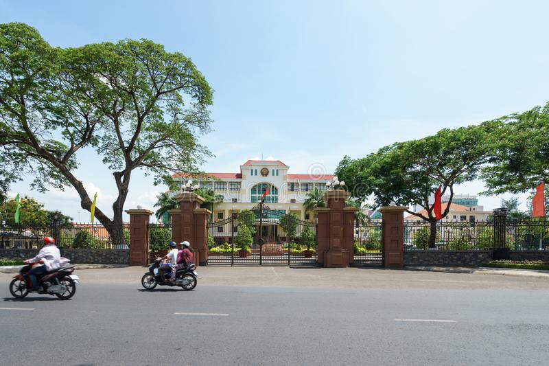 Hall de Ben Tre Province City image stock