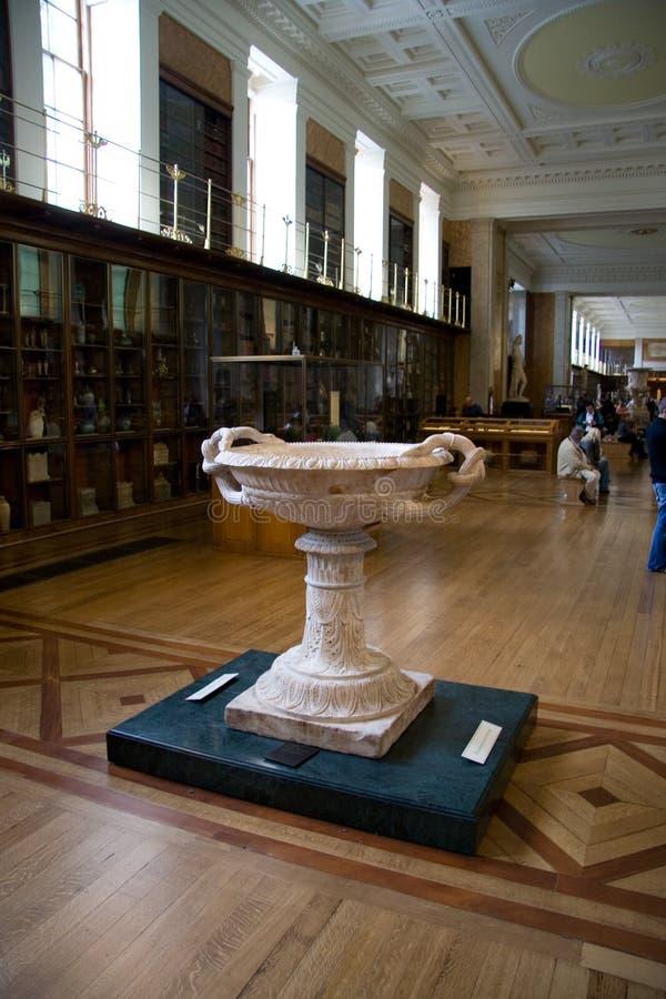 Hall de bibliothèque d'exposition de British Museum photos libres de droits
