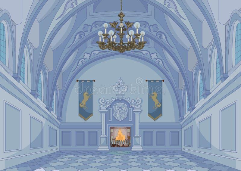 Hall de château illustration stock