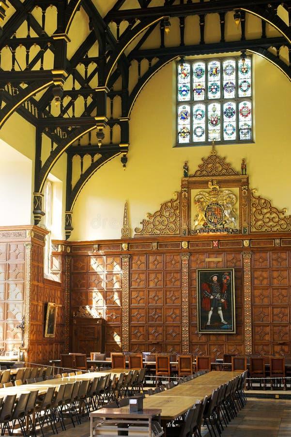 Hall de Dinning - Cambridge images stock