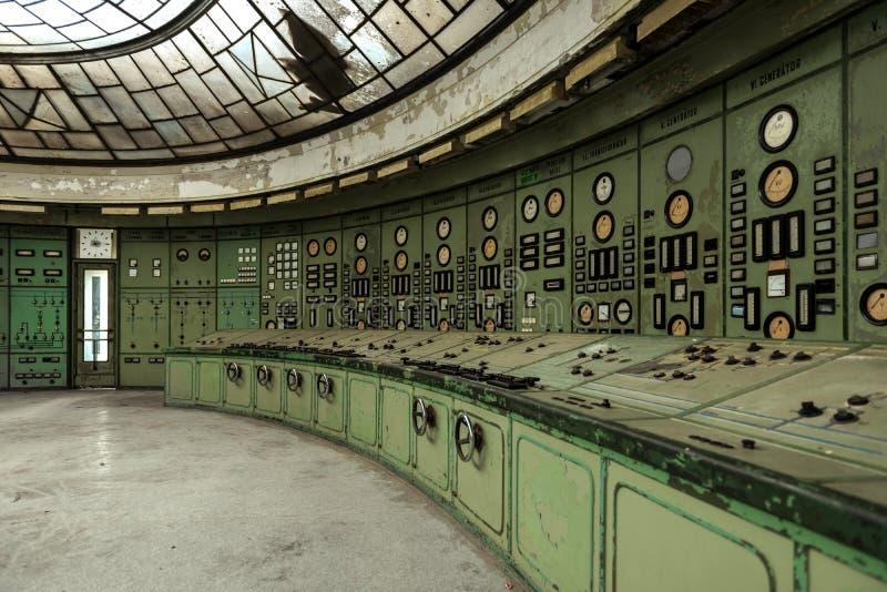 Hall de distribution de l'électricité dans la métallurgie photographie stock libre de droits