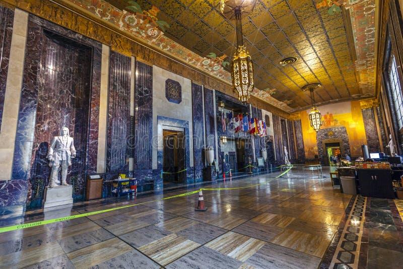 Hall de entrada adentro en el estado de Luisiana imágenes de archivo libres de regalías