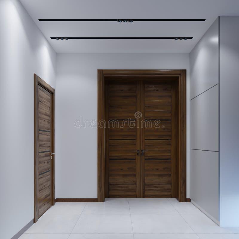 Hall de entrada moderno en un estilo minimalista ilustración del vector