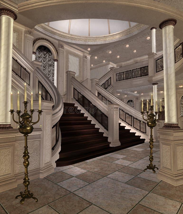 Hall de luxe illustration de vecteur