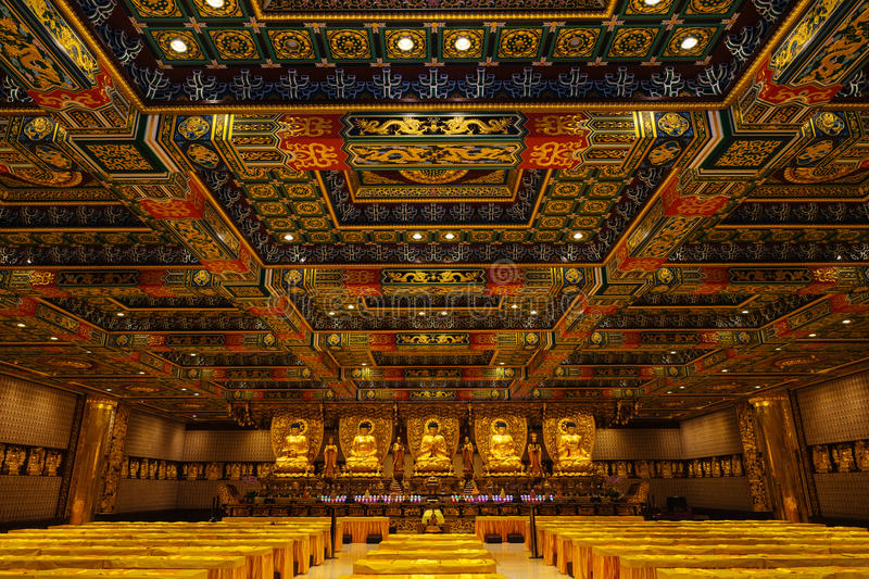 Hall de mille Buddhas images stock