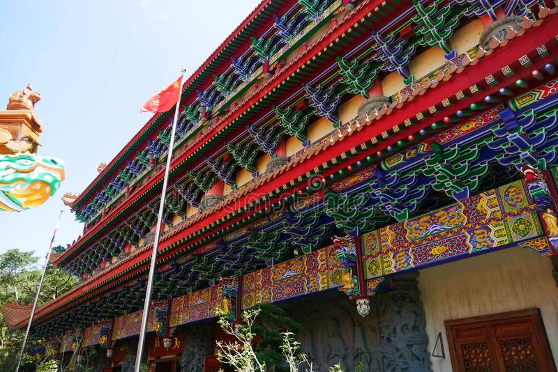 Hall de PO Lin Monastery photo stock