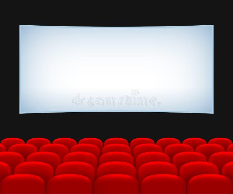 Hall de salle de cinéma illustration stock