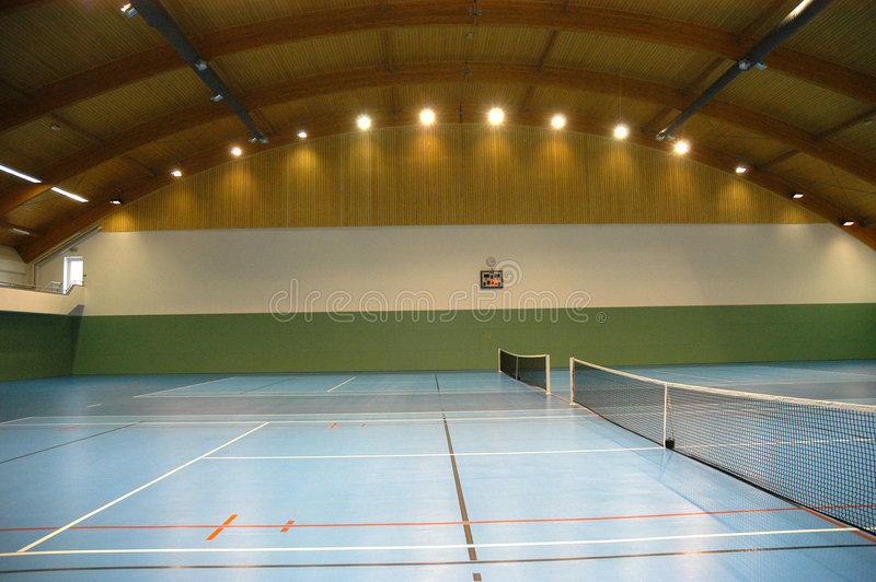 Hall de tennis photographie stock