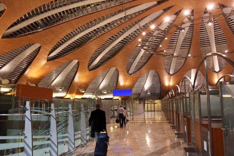 Hall de terminal neuf d'aéroport Sheremetyevo image stock
