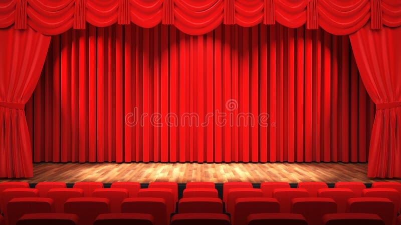 Hall de théâtre illustration de vecteur