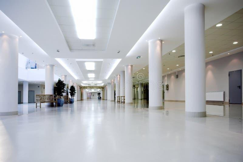 Hall der Büromitte lizenzfreies stockbild