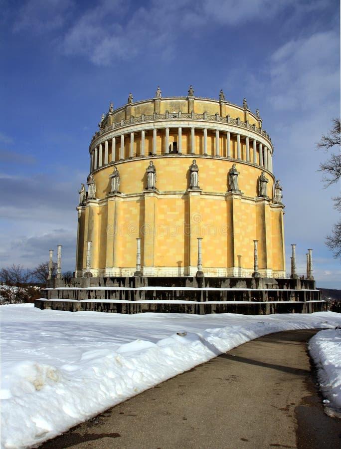 Hall der Befreiung in der Winterzeit stockbilder