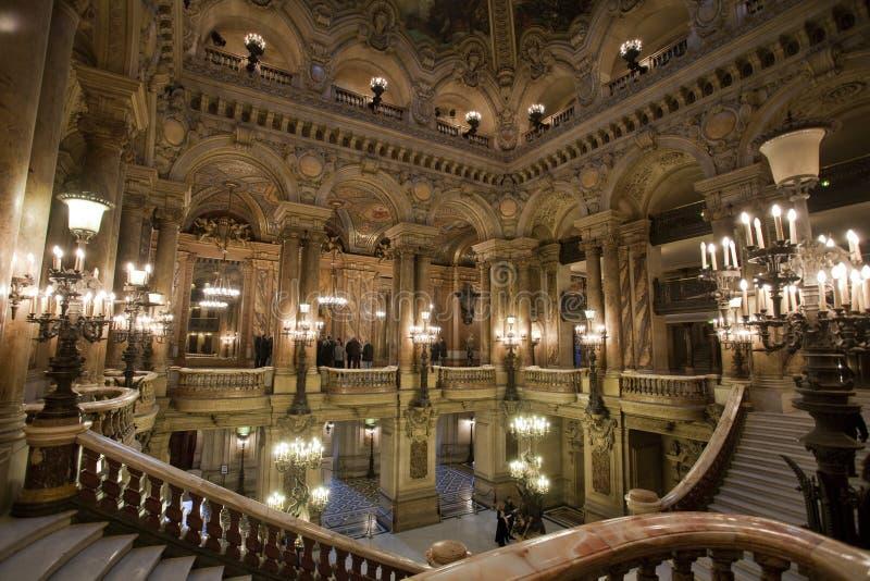 Hall der Oper Garnier in Paris Frankreich stockfotografie