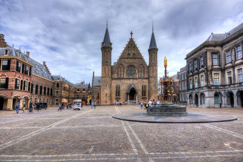 Hall der Ritter im Hof von Binnenhof, Den Haag, die Niederlande stockbilder