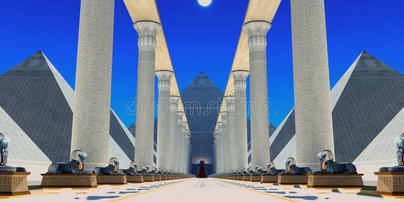 Hall der Sphinxes lizenzfreie abbildung