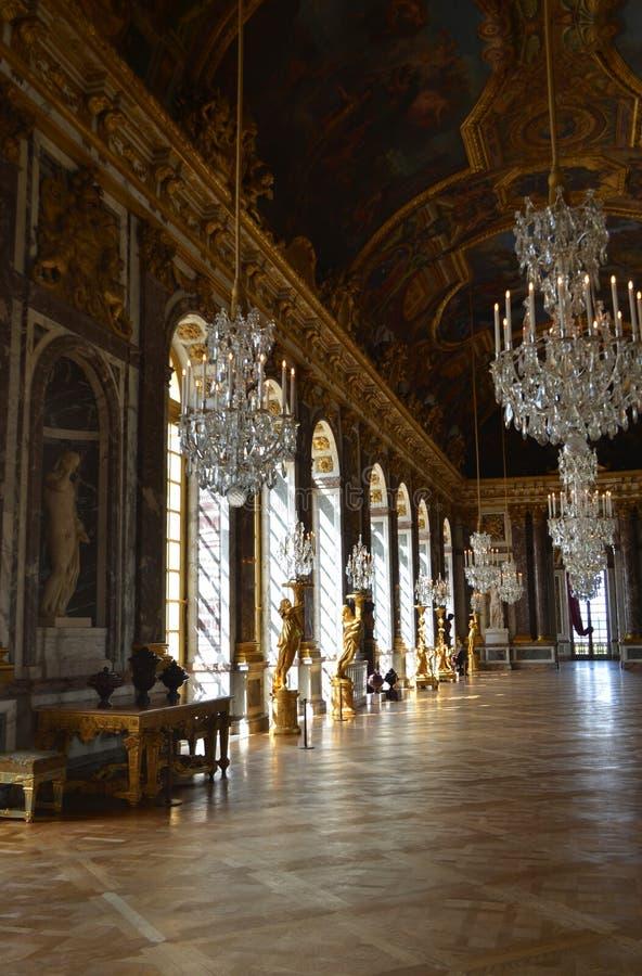 Hall des miroirs, palais de Versailles, France photo libre de droits