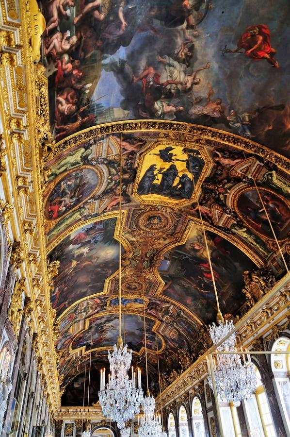 Hall des miroirs, Versailles photographie stock libre de droits