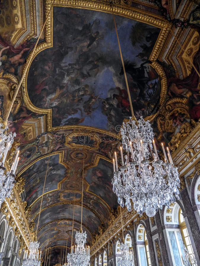 Hall des miroirs, Versailles, France image stock