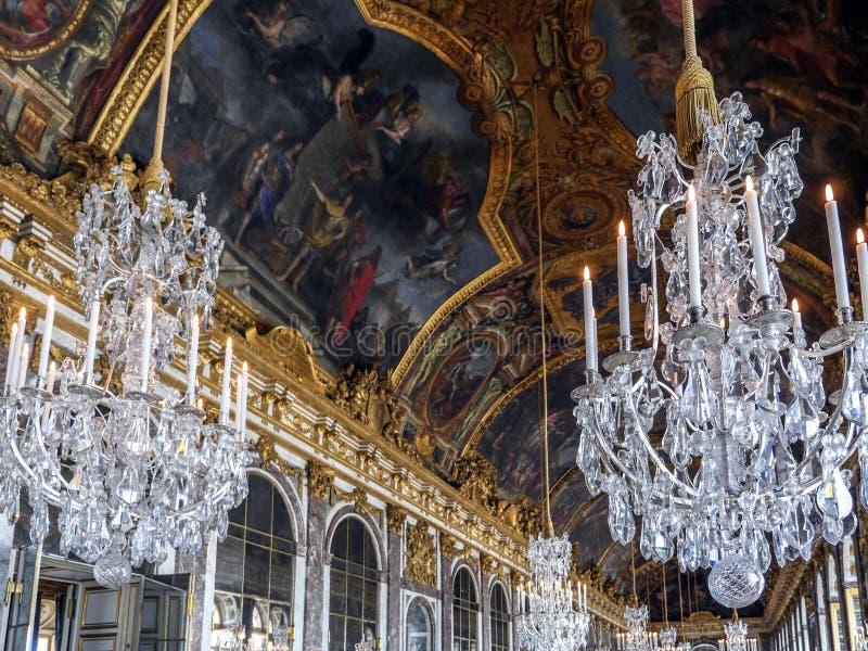 Hall des miroirs, Versailles, France image libre de droits