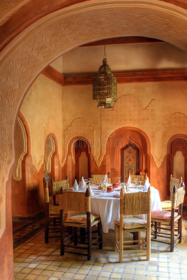 Hall dinning arabe images stock