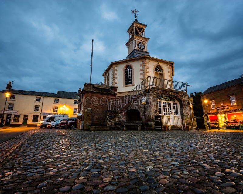 Hall discutable dans Brampton, Cumbria tôt le matin photographie stock libre de droits
