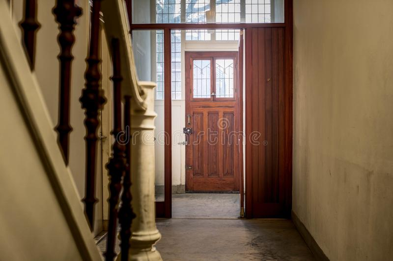Download Hall Entrance In A Old And Dark House Stock Image   Image Of Cozy,