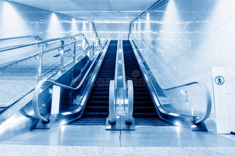 Hall and escalators royalty free stock photos