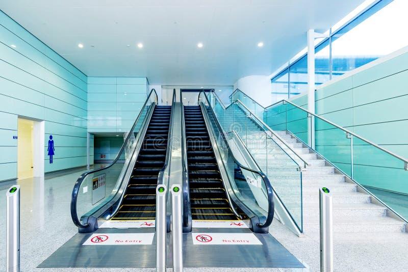 Hall and escalators royalty free stock photo