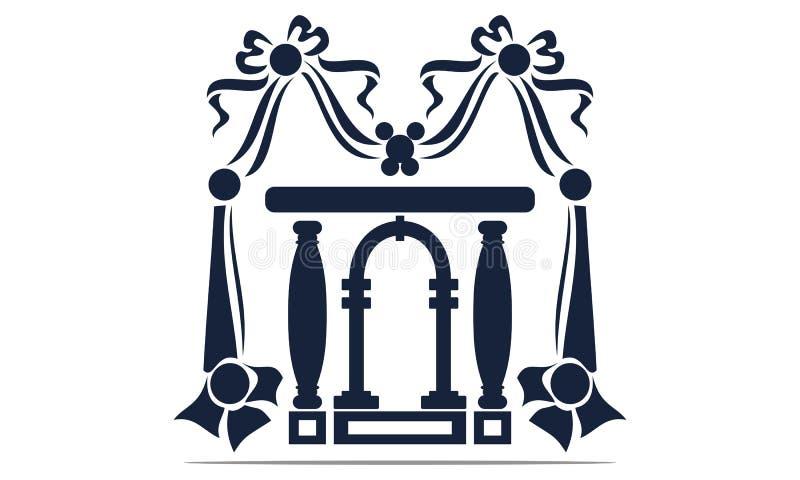 Hall Event Logo Design Template illustration de vecteur