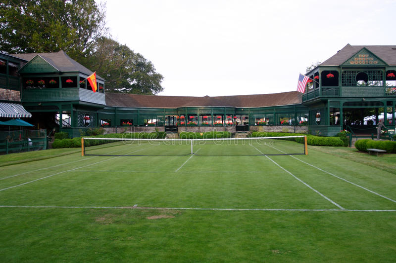 Hall of fame internazionale di tennis, Newport, Rhode Island fotografia stock