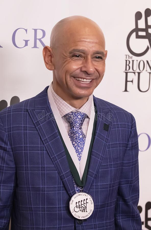 Mike Smith. Hall of Fame jockey who recently rode Justify to the Triple Crown, Mike Smith attends the 33rd Annual Great Sports Legends Dinner, at the New York royalty free stock photo