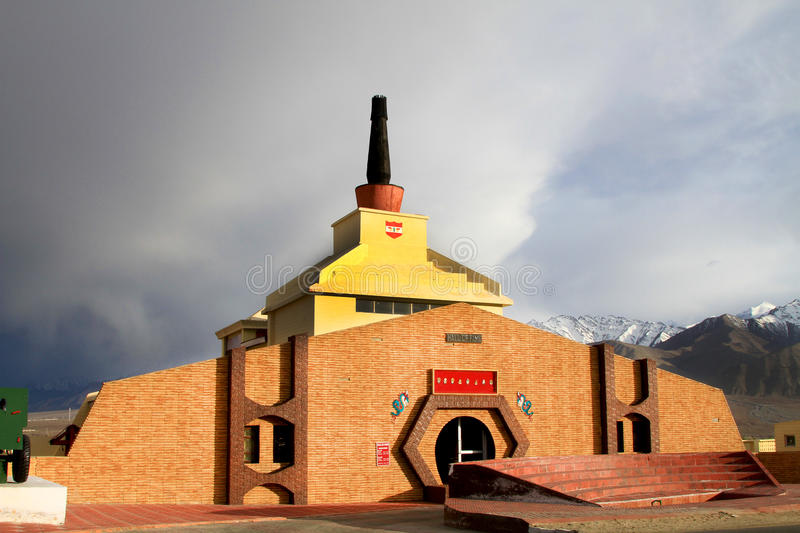Hall of fame museum. Hall of fame military museum at leh in India stock photography