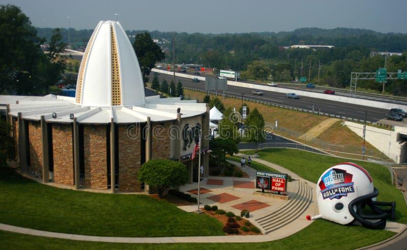 Hall of Fame nel cantone, Ohio di gioco del calcio del NFL immagine stock libera da diritti