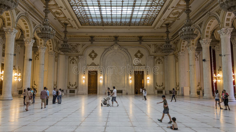 Hall of Fame. Palace of the Parliament, Bucharest stock photos