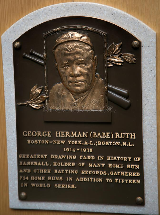Hall of Fame Player Babe Ruth fotografia de stock royalty free